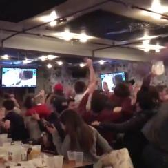 Loyola-Chicago fans react to game-winner
