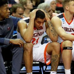 Virginia's bench against UMBC