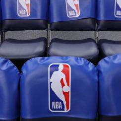 MINNEAPOLIS, MN -  JANUARY 10: A generic basketball photo the NBA logo on seats in the arena before the Oklahoma City Thunder game against the Minnesota Timberwolves on January 10, 2018 at Target Center in Minneapolis, Minnesota. NOTE TO USER: User expressly acknowledges and agrees that, by downloading and or using this Photograph, user is consenting to the terms and conditions of the Getty Images License Agreement. Mandatory Copyright Notice: Copyright 2018 NBAE (Photo by Jordan Johnson/NBAE via Getty Images)