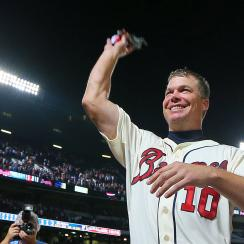 Chipper Jones photo jacket