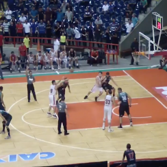 Brazilian basketball buzzer beater, missed free throw (video)