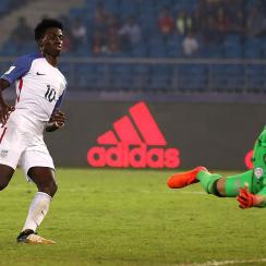 Tim Weah is hoping for a senior national team debut when the USA takes on Paraguay