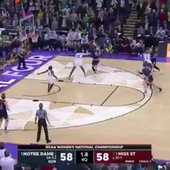 notre dame wins ncaa womens championship buzzer beater video