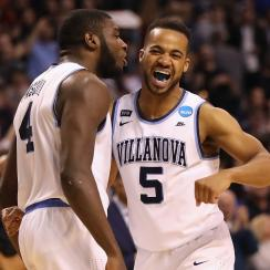 Villanova campus street poles greased up for title game