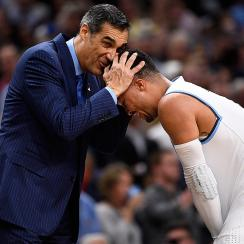 Jay Wright and Jalen Brunson