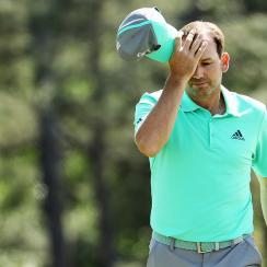 Sergio Garcia masters augusta 13 water tin cup