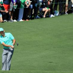 Sergio Garcia plays a shot on the second hold during the first round of the 2018 Masters.nbsp;