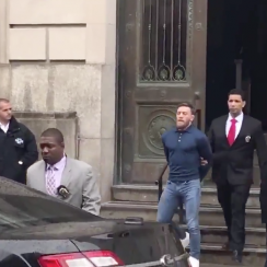 Conor McGregor arrested: Leaves station in handcuffs (video)