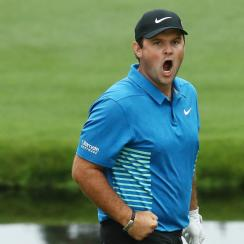 Patrick Reed shot 67 to carry a three shot lead into Sunday at the Masters.