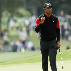 Tiger Woods Sunday Masters score round recap augusta leaderboard