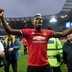 Paul Pogba scored twice for Manchester United vs. Manchester City