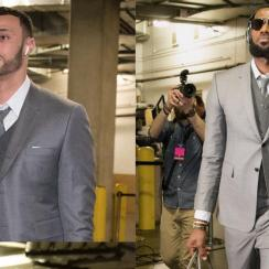 Twitter roast Cavaliers matching suits