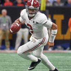 jalen hurts, tua tagovailoa, jalen hurts alabama, alabama spring game, alabama a day game, jalen hurts spring game, alabama crimson tide, nick saban, alabama quarterbacks