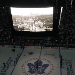 Maple Leafs moment of silence