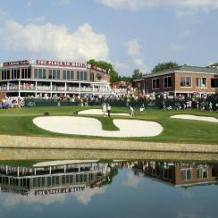 18th green at Colonial Country Club during 2010