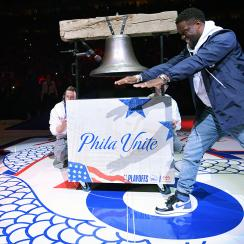 76ers, philadelphia, philly, phila unite, 76ers playoffs, meek mill, kevin hart, eagles