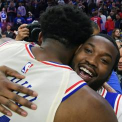 Meek Mill at Sixers NBA playoffs game (video)