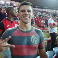 Flamengo soccer fan covers body in jersey tattoo (photo)
