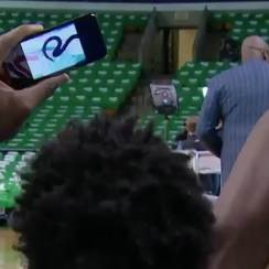 Joel Embiid watches anime before NBA playoffs game (video)