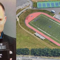 New Jersey high school football field pooper captured