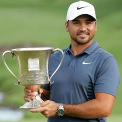 Jason Day wins 2018 Wells Fargo Championship Trophy