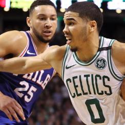 Ben Simmons and Jayson Tatum