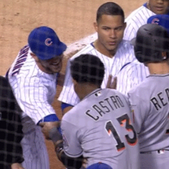 Kris Bryant tickles Starlin Castro in Cubs-Marlins fight (video)