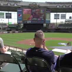Brewers play Fortnite on Miller Park jumbotron (video)