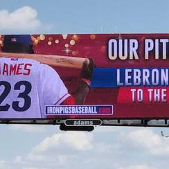 lebron james iron pigs triple a baseball