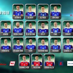 Iceland World Cup squad roster