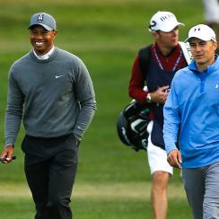 Tiger Woods and Jordan Spieth are paired together on Sunday at the Players Championship, follow our live blog