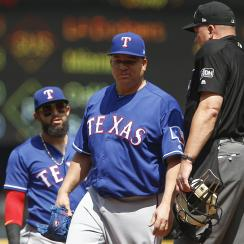 bartolo colon, bartolo colon hit by line drive, rangers, texas rangers, mariners, seattle