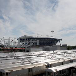 The new, roofed Louis Armstrong will be open for this year's U.S. Open.