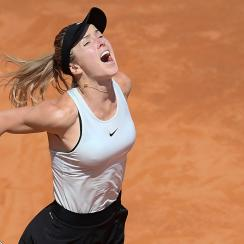 Elina Svitolina beat Simona Halep to win the Italian Open title