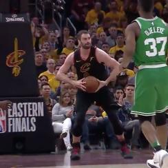 Kevin Love outlet pass to LeBron James