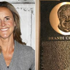 Brandi Chastain plaque: Hall of Fame bust (photo)