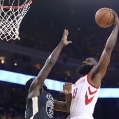 James Harden dunk on Draymond Green in Warriors-Rockets (video)