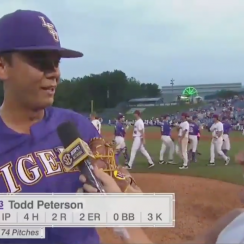 SEC baseball: LSU's Todd Peterson lies to coach, hits double