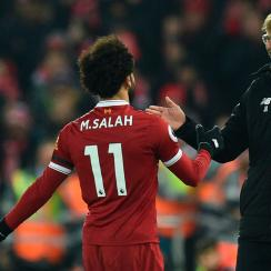Jurgen Klopp and Mohamed Salah look to lead Liverpool to the Champions League title
