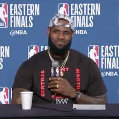 LeBRon James responds to being called clutch his whole career