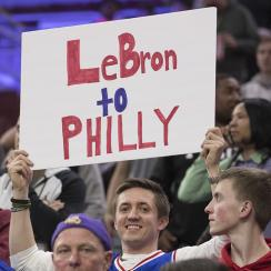 Odds LeBron James signs with 76ers lowered overnight