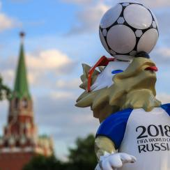 The 2018 World Cup takes place in Russia