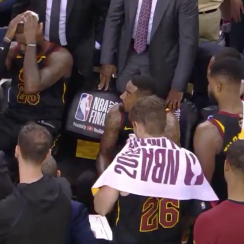 NBA Finals: Full LeBron reaction video to JR Smith mistake