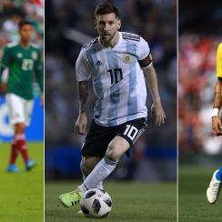 Hirving Lozano, Lionel Messi and Neymar will be three players to watch at the 2018 World Cup