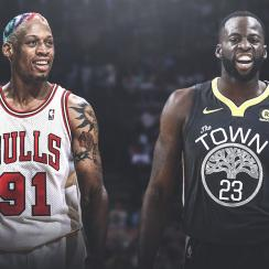 Draymond Green and Dennis Rodman