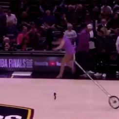 Red Panda falls off unicycle