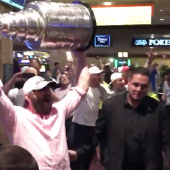 Alex Oveckhin celebrates Stanley Cup win (videos)