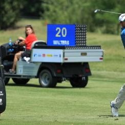 Justin Walters hit with plenty of time remaining during the second round of the Shot Clock Open in Austria.