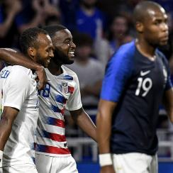 Julian Green and the USA held France to a 1-1 draw.