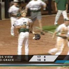 High school pitcher hugs batter after strikeout (video)